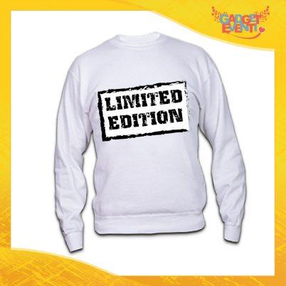 """Felpa Unisex Bianca """"Limited Edition"""" Idea Regalo Linea Gadget Eventi"""