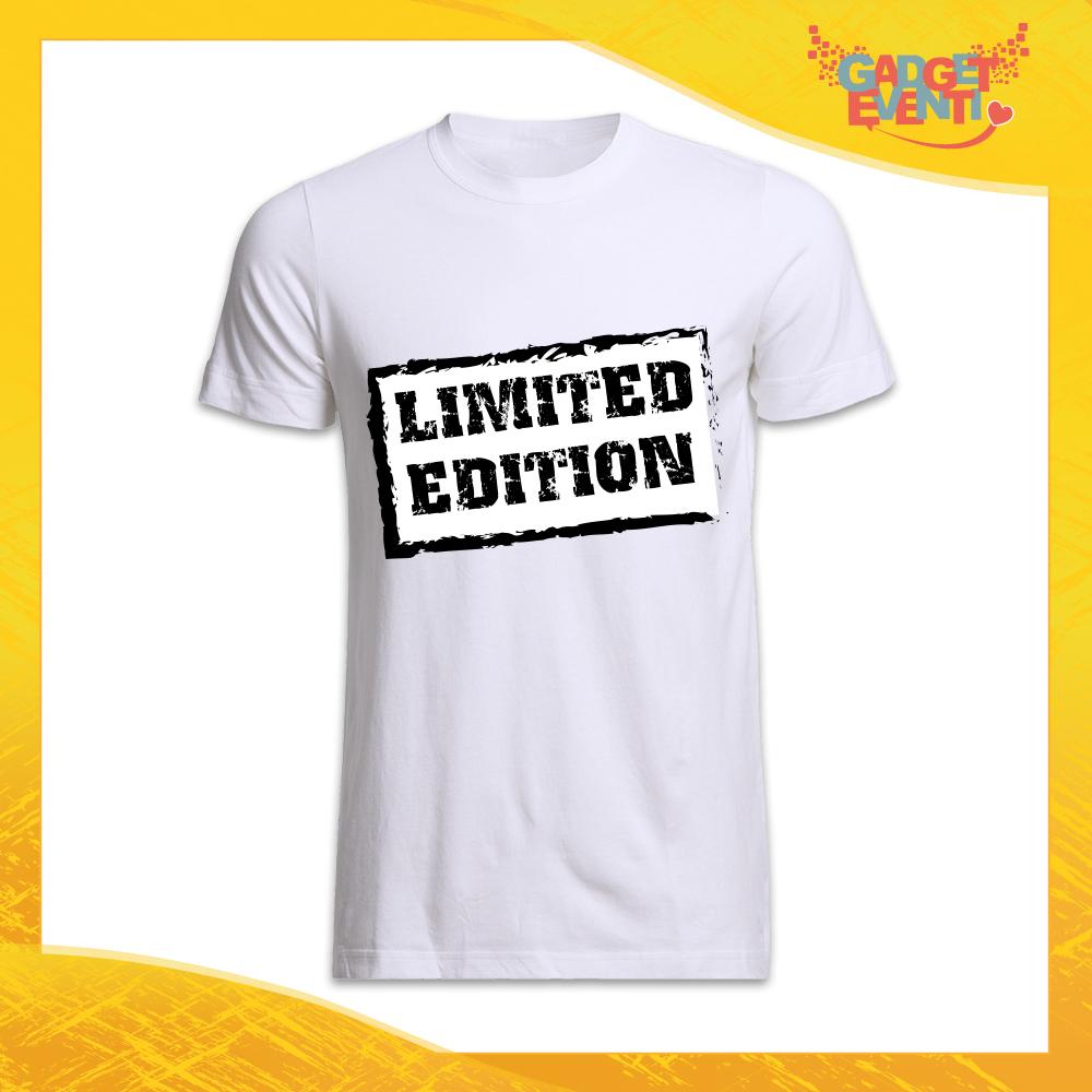 """maglietta t-shirt uomo bianca """"Limited Edition"""" Idea Regalo Linea Gadget Eventi"""