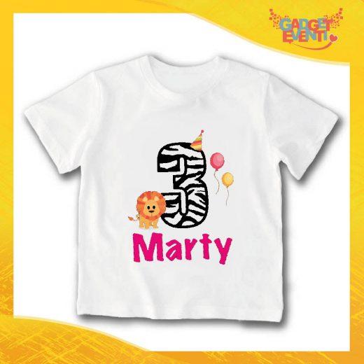 """T-Shirt bianca bimbo/a """"Nome Personalizzato 3 anni"""" Idea Regalo Per Compleanni Gadget Eventi"""