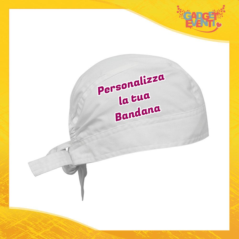Bandana Bianca Personalizzata con foto testi frasi e immagini Articoli per cucina e ristorazione bar Gadget Eventi