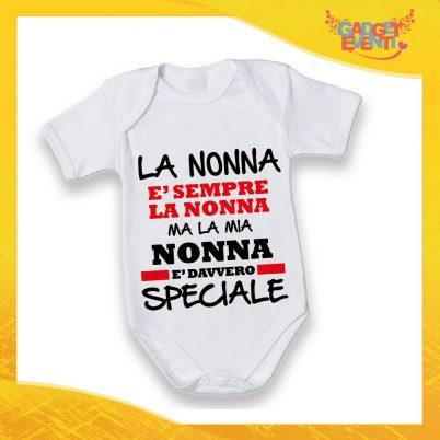 """Body Manica Corta Neonato Bodino Bimbo Personalizzato """"Nonna è Speciale"""" Idea Regalo Festa dei Nonni Gadget Eventi"""