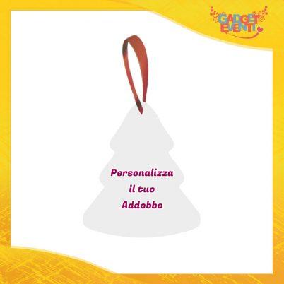Addobbo Albero di Natale Appendino Natalizio Personalizzato con frasi scritte foto e immagini Idea per Decorare la casa Gadget Eventi