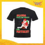 """T-Shirt Uomo Natalizia Nera """"Cosa Volevi per Natale"""" Maglietta per l'inverno Maglia Natalizia Idea Regalo Gadget Eventi"""
