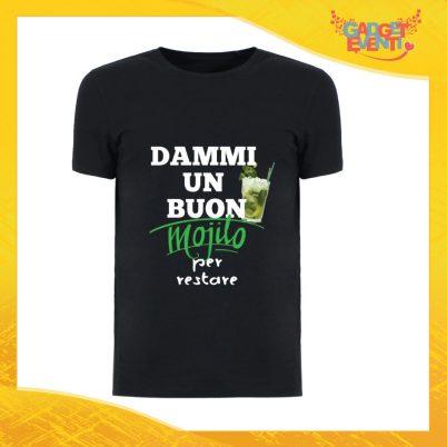 """T-Shirt Uomo Nera """"Dammi un buon Mojito"""" Maglia Maglietta Maschile Idea Regalo Divertente per un Ragazzo Gadget Eventi"""