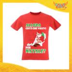 """T-Shirt Uomo Natalizia Rossa """"Cosa Volevi per Natale"""" Maglietta per l'inverno Maglia Natalizia Idea Regalo Gadget Eventi"""