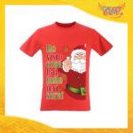 """T-Shirt Uomo Natalizia Rossa """"Ho visto cosa hai fatto"""" Maglietta per l'inverno Maglia Natalizia Idea Regalo Gadget Eventi"""