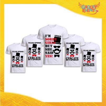 """Pacchetto T-Shirt Bianche Addio al Celibato Maglietta """"I'm Sorry Guys But I Said Yes"""" Idea Divertente per Feste e Party pre matrimoniali Gadget Eventi"""