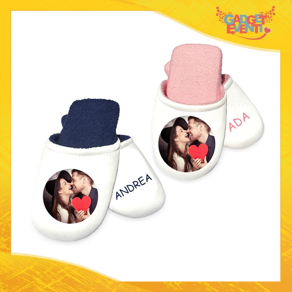 Pantofole Ciabatte Personalizzate con Foto Testi e Immagini per Uomo e Donna Idea Regalo Gadget Eventi