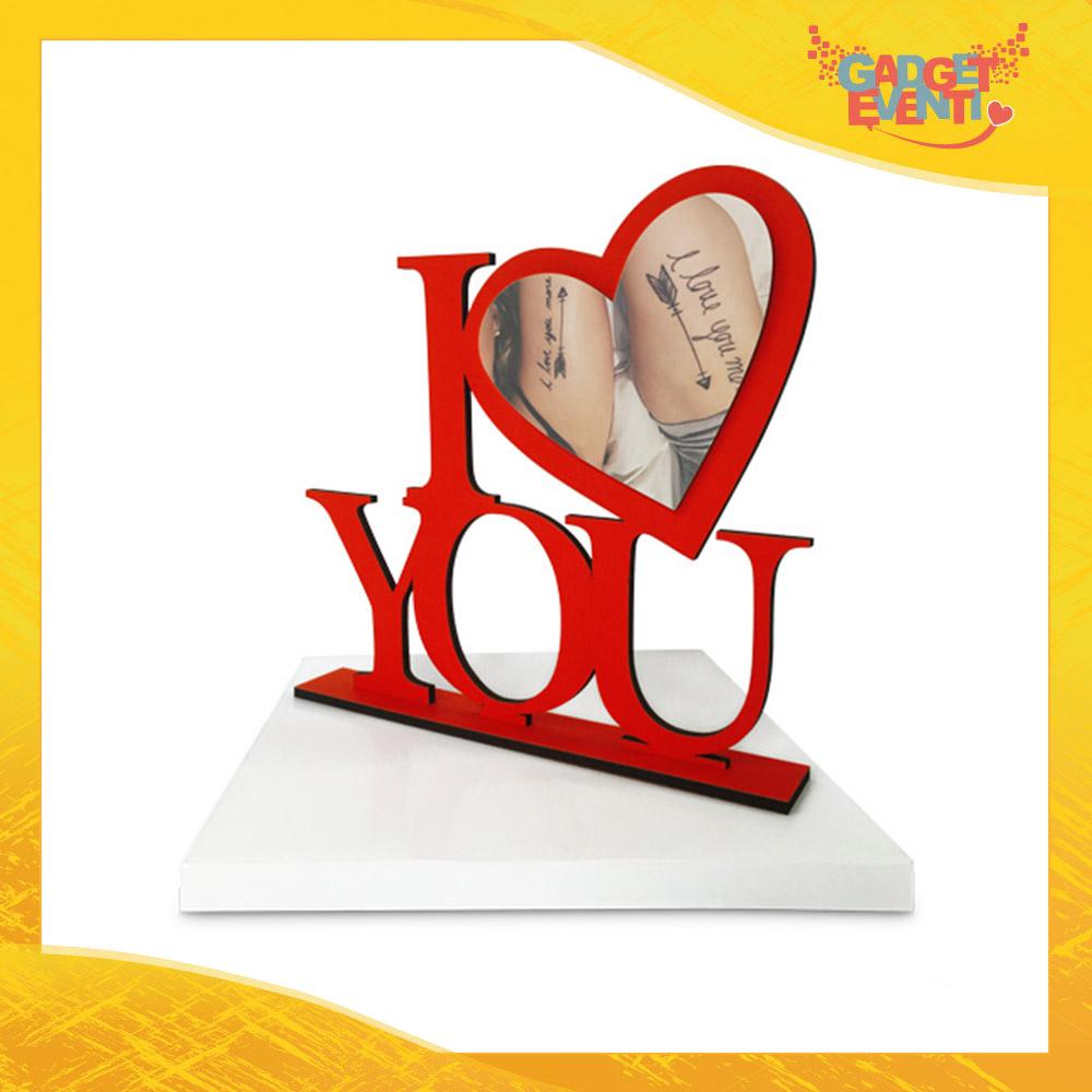 """Cornice Portafoto Personalizzata con Foto Testi e Immagini """"I Love You"""" Idea Regalo per Innamorati San Valentino Gadget Eventi"""