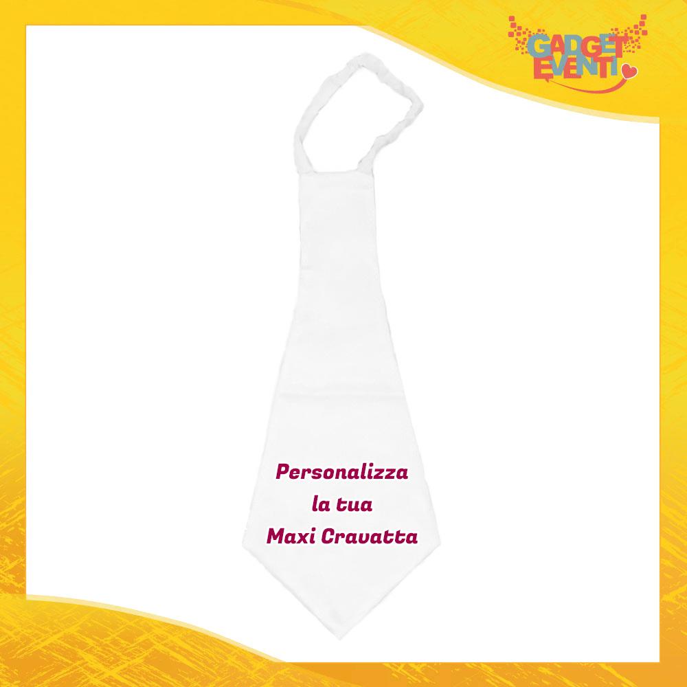 Maxi Cravatta Personalizzata con Foto Testo e Immagini Idea Regalo Gadget Eventi