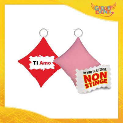 """Mini Cuscino di San Valentino Personalizzato Retro Rosa """"Ti Amo Barretta"""" Mini Federa dell'amore Idea Regalo per Innamorati Gadget Eventi"""