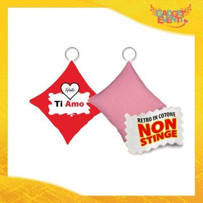 """Mini Cuscino di San Valentino Personalizzato Retro Rosa """"Ti Amo con Foto Barretta"""" Mini Federa dell'amore Idea Regalo per Innamorati Gadget Eventi"""