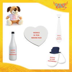 Scegli i nostri prodotti per San Valentino Bottiglie da Vino Cravatte Mouse Pad Pantofole e Peluche Idee Regalo per Innamorati Gadget Eventi