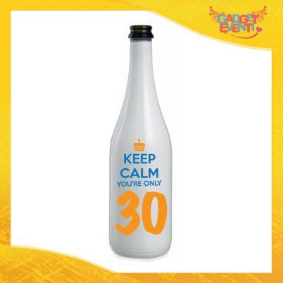 """Bottiglia da Vino Personalizzata """"Keep Calm Thirty"""" Bottiglie per Compleanni Idea Regalo Originale per Feste di Compleanno Gadget Eventi"""
