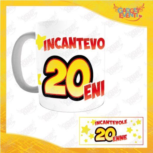 """Tazza Personalizzata """"Incantevole con Anno Ventenne"""" Mug per Compleanni Regalo Tazze Originali per Feste di Compleanno Gadget Eventi"""