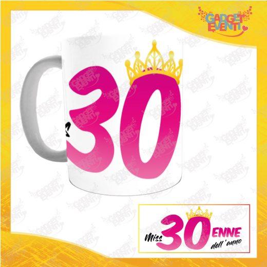 """Tazza Personalizzata """"Miss Corona Trentenne"""" Mug per Compleanni Regalo Tazze Originali per Feste di Compleanno Gadget Eventi"""