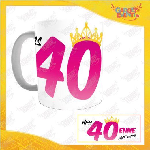 """Tazza Personalizzata """"Miss Corona Quarantenne"""" Mug per Compleanni Regalo Tazze Originali per Feste di Compleanno Gadget Eventi"""