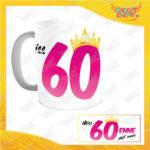 """Tazza Personalizzata """"Miss Corona Sessantenne"""" Mug per Compleanni Regalo Tazze Originali per Feste di Compleanno Gadget Eventi"""
