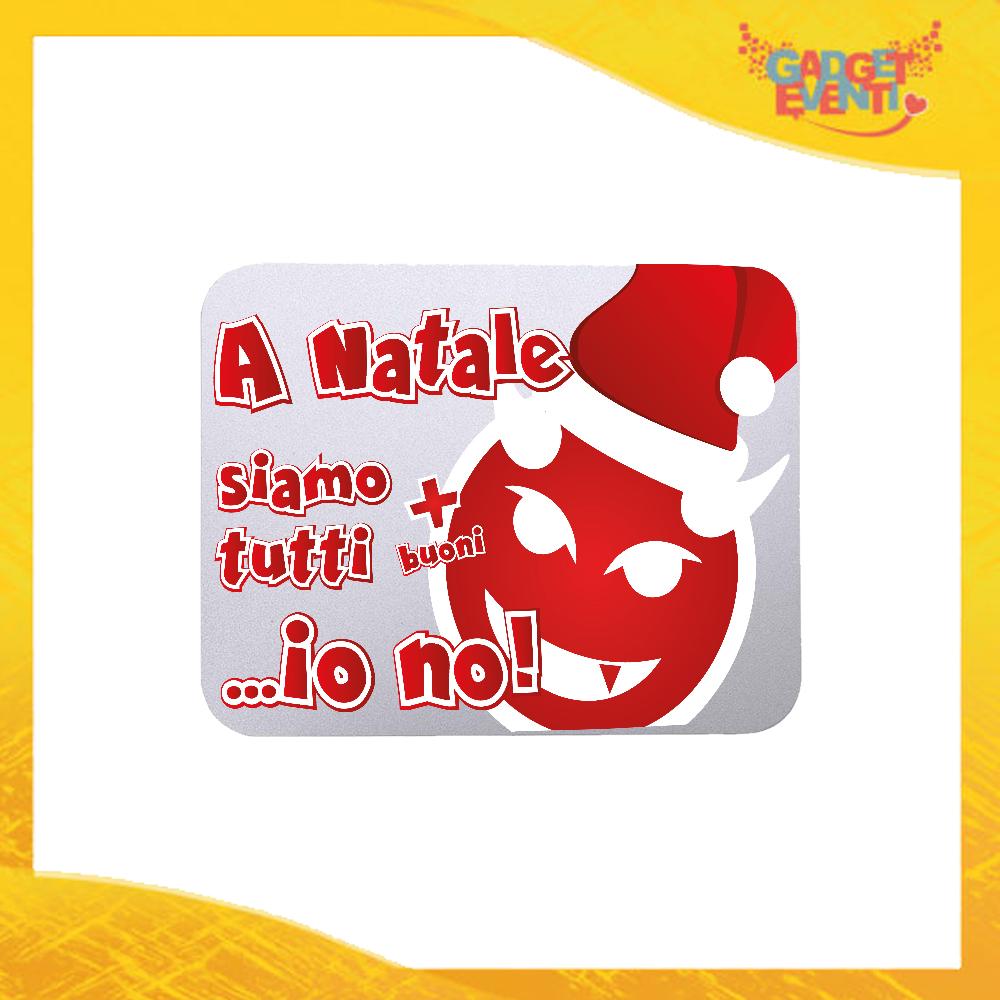 """Mouse Pad Rettangolare Natalizio Grafica Rossa """"A Natale Siamo Tutti Più Buoni"""" tappetino pc ufficio idea regalo festa di Natale gadget eventi"""