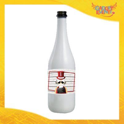 """Bottiglia da Vino Natalizia 75 ml Personalizzata """"Fotosegnaletica Babbo Natale Idea Regalo per Festa di Natale Gadget Eventi"""