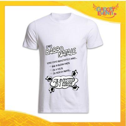 """T-Shirt Uomo Natalizia Bianca """"Sono Stato Bravo Tutto l'Anno"""" grafica Nera Maglietta per l'inverno Maglia Natalizia Idea Regalo Gadget Eventi"""