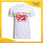 """T-Shirt Uomo Natalizia Bianca """"Disturbo Compulsivo Regali"""" grafica Rossa Maglietta per l'inverno Maglia Natalizia Idea Regalo Gadget Eventi"""