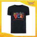 """T-Shirt Uomo Natalizia Nera """"Disturbo Compulsivo Regali"""" grafica Multicolore Maglietta per l'inverno Maglia Natalizia Idea Regalo Gadget Eventi"""