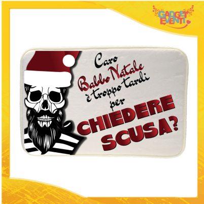 """Mouse Pad Rettangolare Natalizio Grafica Rossa """"Caro Babbo Natale..."""" tappetino pc ufficio idea regalo festa di Natale gadget eventi"""
