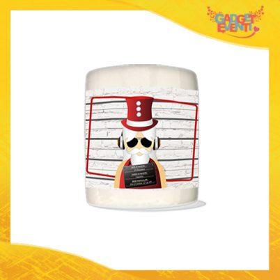 """Salvadanaio Portamonete in ceramica Natalizio personalizzato """"Fotosegnaletica Babbo Natale"""". Porta risparmi monetine e monete Idea Regalo Gadget Eventi"""