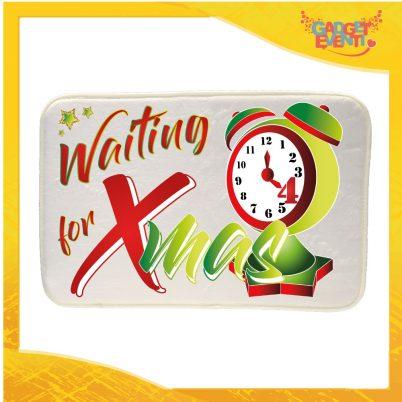 """Mouse Pad Rettangolare Natalizio Grafica Verde """"Waiting For Xmas"""" tappetino pc ufficio idea regalo festa di Natale gadget eventi"""