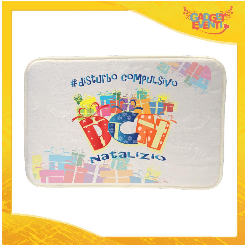 """Mouse Pad Rettangolare Natalizio Grafica Multicolore """"Disturbo Compulsivo Regali"""" tappetino pc ufficio idea regalo festa di Natale gadget eventi"""