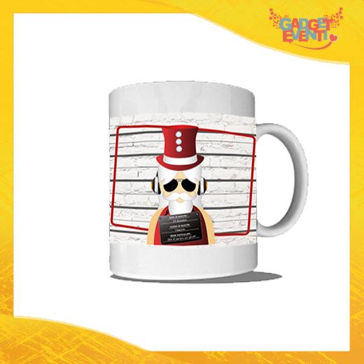 """Tazza Natalizia Personalizzata """"Fotosegnaletica Babbo Natale"""" Mug Colazione Breakfast Idea Regalo Festività Natalizie Gadget Eventi"""