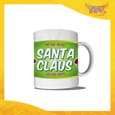 """Tazza Natalizia Personalizzata """"Real Santa Claus"""" grafica Verde Mug Colazione Breakfast Idea Regalo Festività Natalizie Gadget Eventi"""