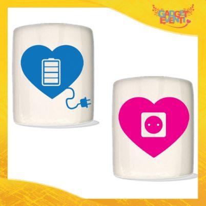 """Coppia di Salvadanai Personalizzati Love """"Amore Ricarica"""". Portamonete Cilindrici Per Innamorati Idea regalo Gadget Eventi"""