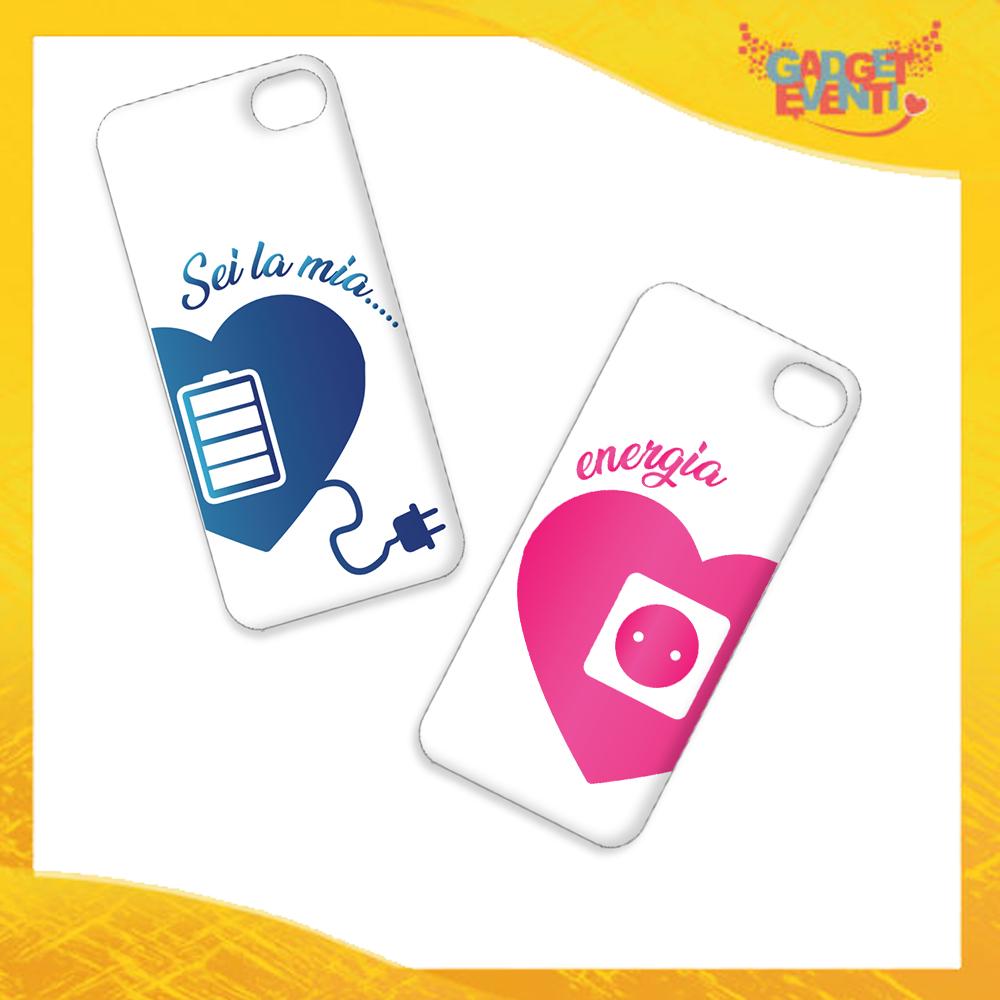 """Coppia Cover Smartphone Cellulare Tablet """"Amore Ricarica"""" San Valentino Gadget Eventi"""