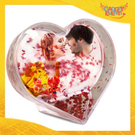 Portafoto Trasparente formato a Cuore Personalizzabile con Foto testi e Immagini Idea Regalo San Valentino Gadget Eventi