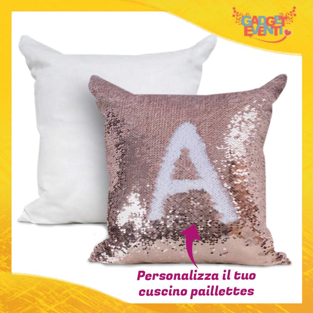 Personalizzare Cuscini.Cuscino Quadrato In Paillettes Personalizzato Con Foto Testi E