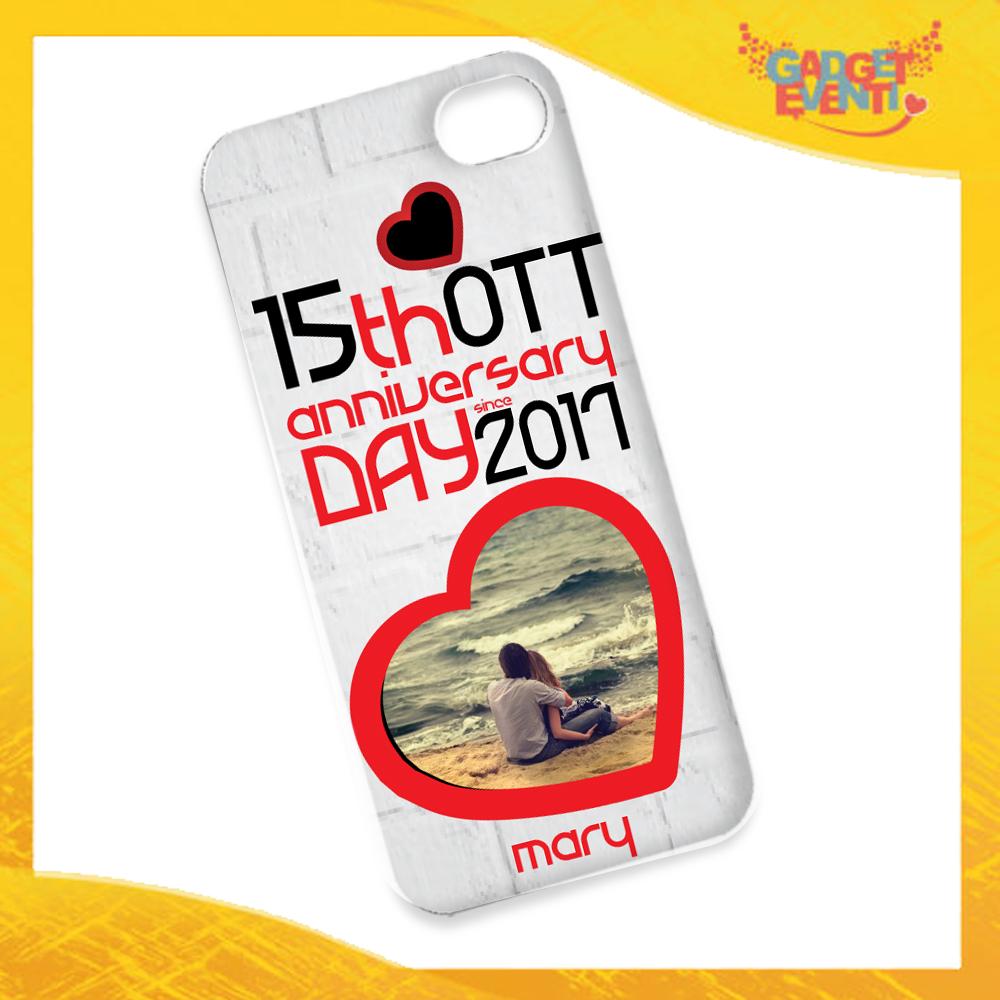 """Cover Donna Smartphone Cellulare Tablet """"Anniversario con Data e Nome"""" San Valentino Gadget Eventi"""