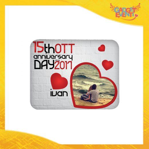 """Mouse Pad Rettangolare Uomo Per Innamorati """"Anniversario con Data e Nome"""" tappetino pc ufficio idea regalo San Valentino gadget eventi"""