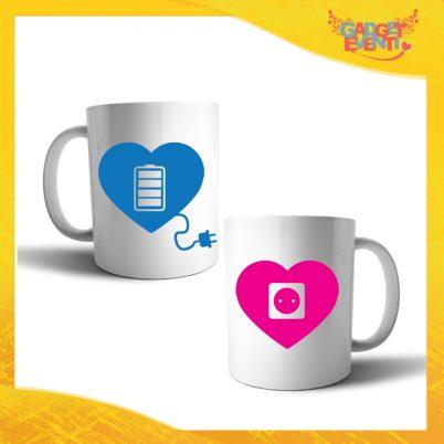 """Coppia di Tazze Love Personalizzate """"Amore Ricarica"""" Mug Colazione Breakfast Idea Regalo Per Innamorati Gadget Eventi"""