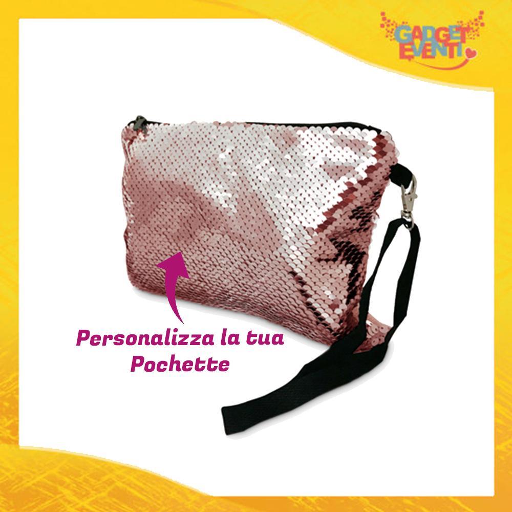 Pochette in Paillettes Personalizzabile Rosa Gadget Eventi