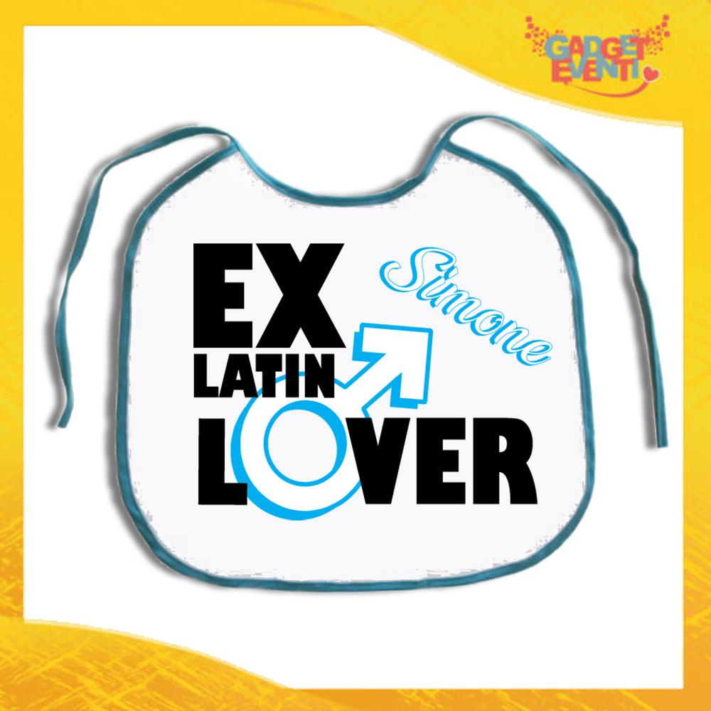 """Maxi Bavetta per Addii al Celibato """"Ex Latin Lover"""" Bavettone per festa di Celibato Idea Regalo Gadget Eventi"""