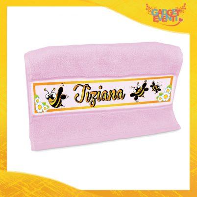 """Asciugamano Bimba Personalizzato Rosa """"Apetta"""" Gadget Eventi"""