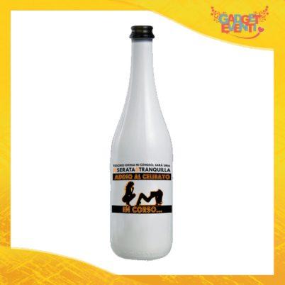 """Bottiglia da Vino Personalizzata """"Serata Tranquilla"""" Idea Regalo Addio al Celibato Gadget Eventi"""