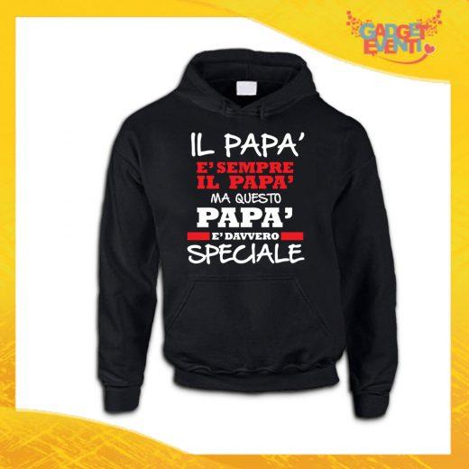 """Felpa Uomo Nera """"Papà è Davvero Speciale"""" Maglione Festa del Papà Gadget Eventi"""