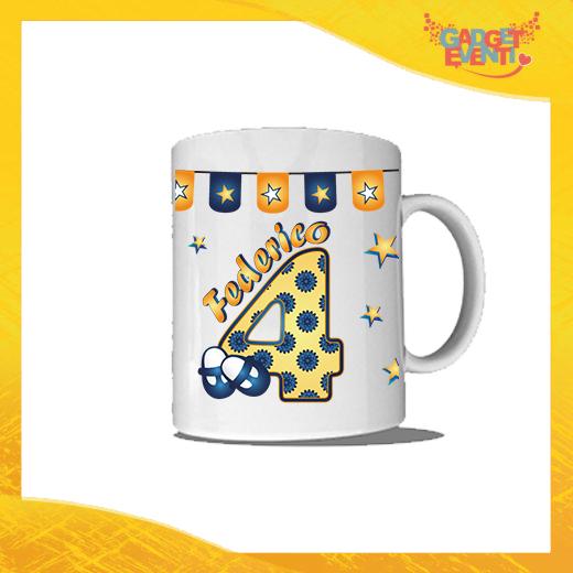 """Tazza Bimbo Personalizzata """"Scarpine Nome e Numero"""" Mug per Compleanni Regalo Tazze Originali per Feste di Compleanno Gadget Eventi"""