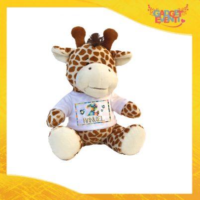 """Peluche Bimbo Pupazzi a forma di Giraffa """"Coccinella Nome e Numero"""" Pupazzetti per Compleanni Idea Regalo per Innamorati Gadget Eventi"""