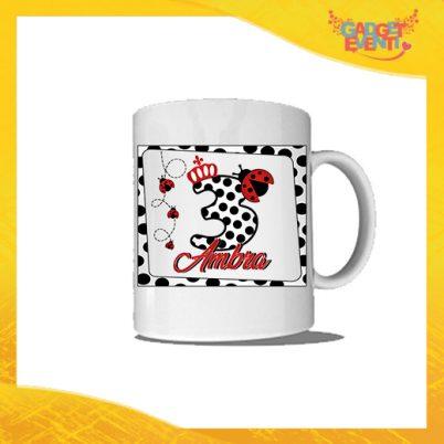 """Tazza Bimbo/a Personalizzata """"Coccinella Nome e Numero"""" Mug per Compleanni Regalo Tazze Originali per Feste di Compleanno Gadget Eventi"""