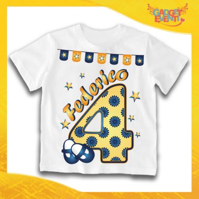 """T-Shirt Bianca bimbo """"Scarpine Nome e Numero"""" Maglietta Idea Regalo Per Compleanni Gadget Eventi"""