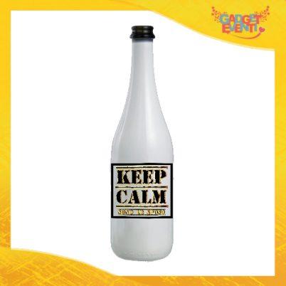 """Bottiglia da Vino Personalizzata """"Keep Calm Sposo"""" Idea Regalo Addio al Celibato Gadget Eventi"""